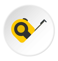 Roulette working tool icon circle vector