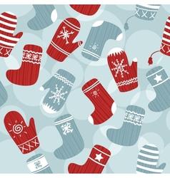 Seamless Christmas background vector image