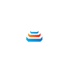 Shape 3d layer company logo vector