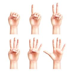 six gestures of people hands vector image