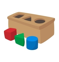 Sorter toy cartoon icon vector image