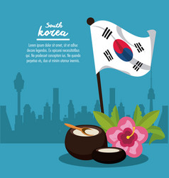south korea infographic vector image