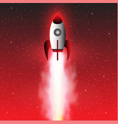 space rocket launch rocket background vector image