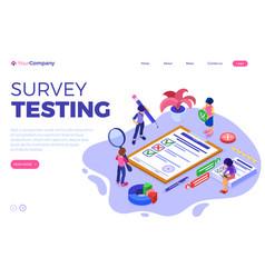 survey questionnaire or test form vector image