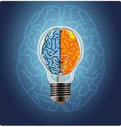 Symbol of idea with the brain shape left and right vector