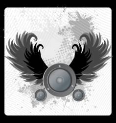 urban grunge speaker design vector image