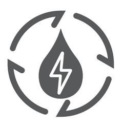 Water energy glyph icon ecology and energy vector