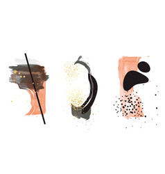 watercolor abstract shapes set creative vector image