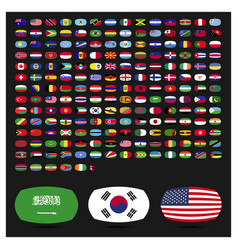 world flags icons set vector image