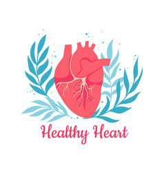 world heart health day cardiology vector image