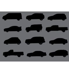 Cars silhouettes part 3 vector image