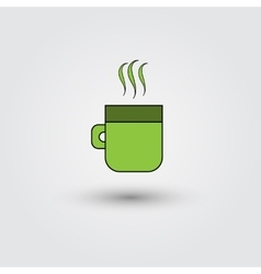 cup of coffee on a white background vector image vector image