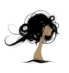 Female portrait sketch for your design vector image vector image