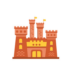 fortress or stronghold with fortified wall and vector image vector image