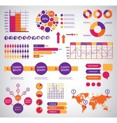 Set of infographics vector