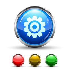 settings button vector image vector image