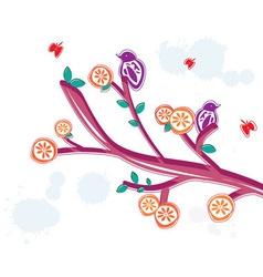 summer floral branch vector image vector image