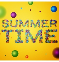 Summer Time words vector image vector image