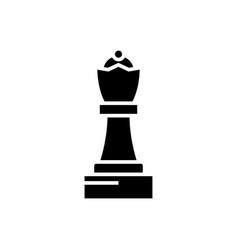chess - queen icon black vector image