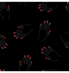 Hand drawn seamless pattern with woman arms vector