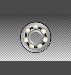 isolated realistic metal bearing icon vector image