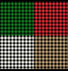 tartane backgrounds set vector image