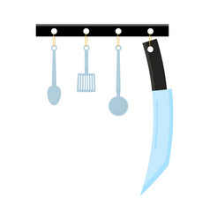 abstract creative funny cartoon kitchen appliances vector image