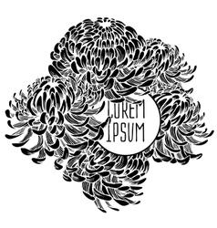 beautiful flower background art vector image