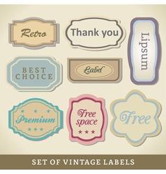 Blank Vintage Design Cards vector image