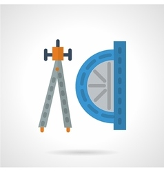 Flat color geometry tools icon vector image