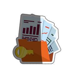 folder password key documents vector image vector image