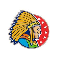 Native American Indian Headgear Side vector image vector image