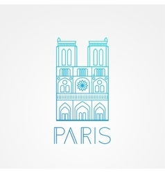 Notre Dame de Paris Cathedral France Hand vector image