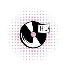 Vinyl record comics icon vector image