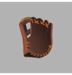 Baseball glove on a gray background vector image