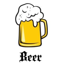 Beer tankard emblem vector image vector image