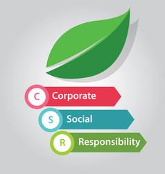 csr corporate social responsibility company vector image vector image