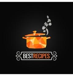 saucepan poly design background vector image