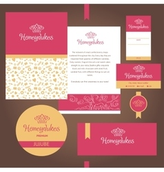 stationery template design for cafe sweets vector image vector image