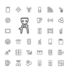 33 cell icons vector
