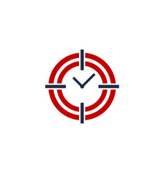 accuracy time logo icon design vector image