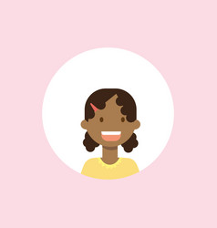 african children face girl portrait on pink vector image