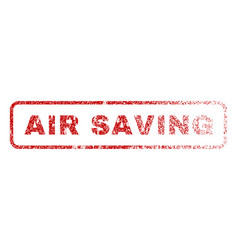 air saving rubber stamp vector image