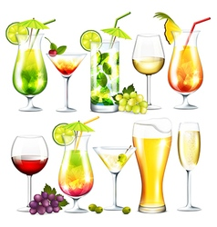 Alcohol drinks vector