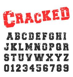 alphabet font template vintage letters vector image