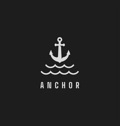 anchor logo design vector image