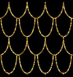 Art deco golden sequin seamless pattern gatsby vector