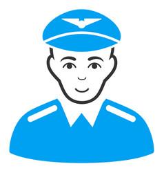 Aviator flat icon vector