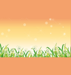 background design template with green grass and vector image