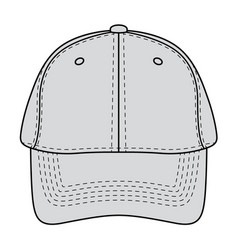 Baseball hat front view vector